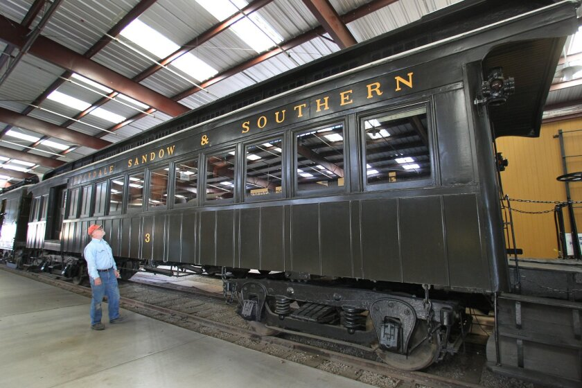 After restoration, an 1886 railroad car is on display in Campo. During its lifetime, it was used as a segregated rail car. JOHN GIBBINS • U-T