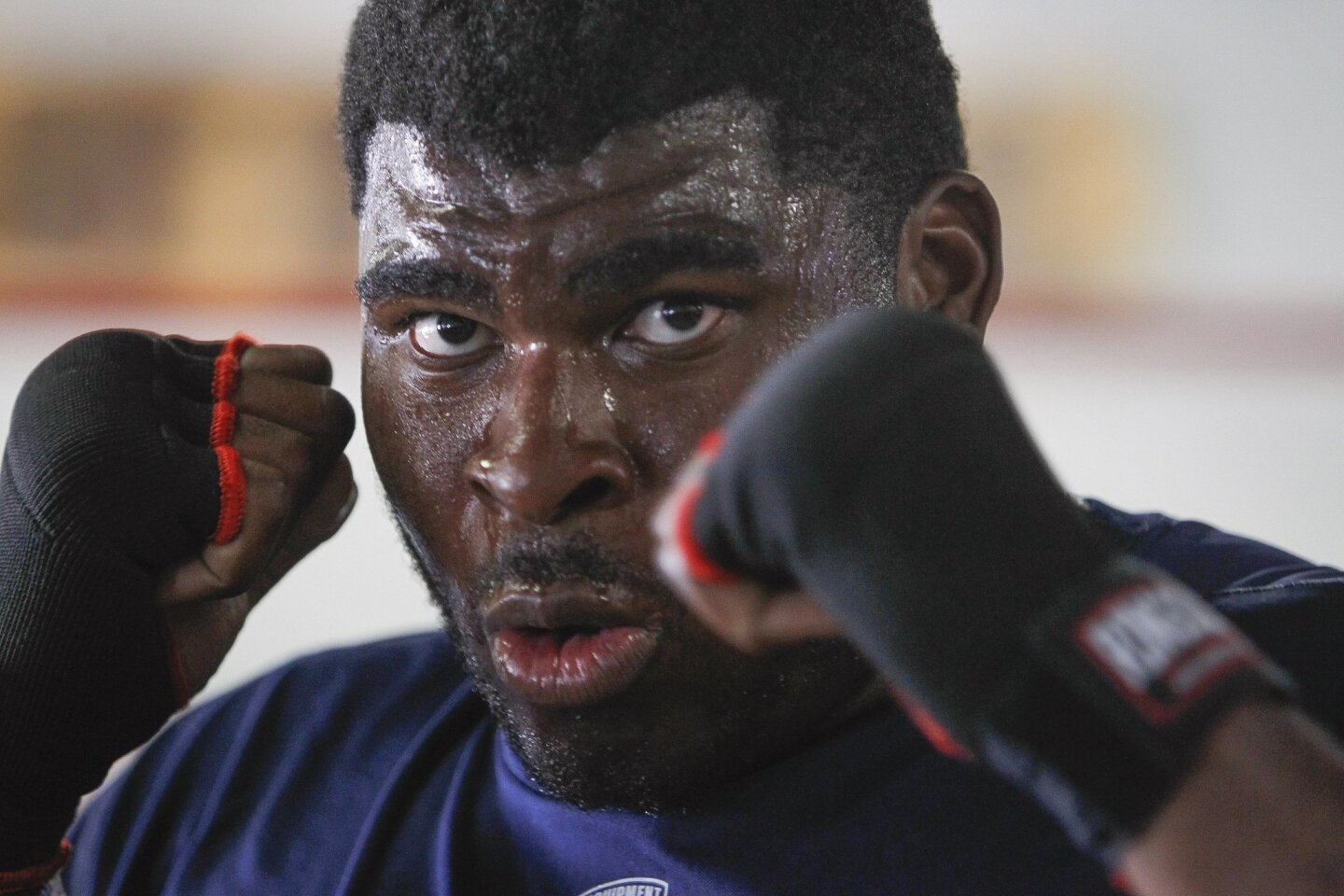 Chargers' D.J. Fluker Trains with Boxing