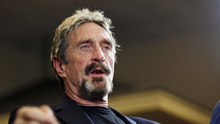 Cybersecurity mogul John McAfee is accused of failing to pay taxes on his cryptocurrency earnings, among other allegations.
