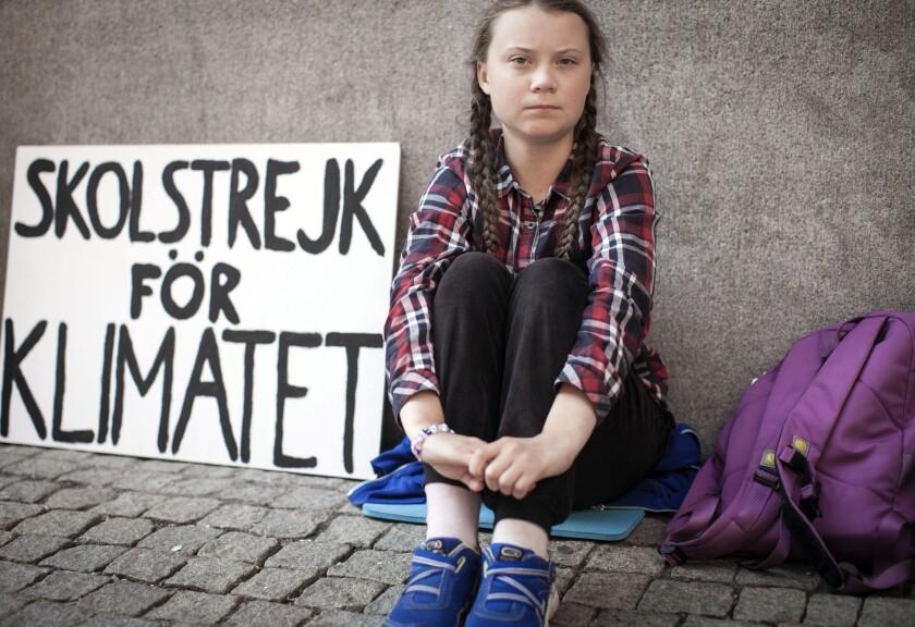 """Greta Thunberg en una escena del documental """"I Am Greta"""" en una imagen proporcionada por Hulu."""