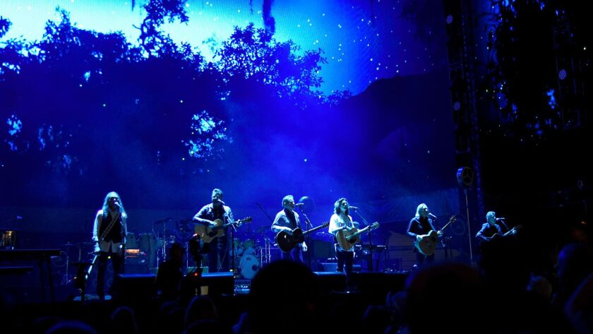 The Eagles perform Saturday night during the Classic West festival at Dodger Stadium.