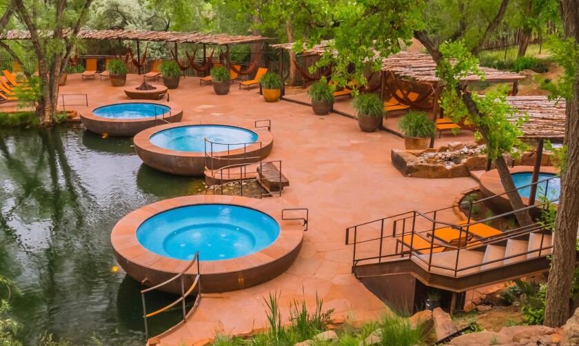 Repose pools at Sunrise Springs Spa Resort in Santa Fe, N.M.