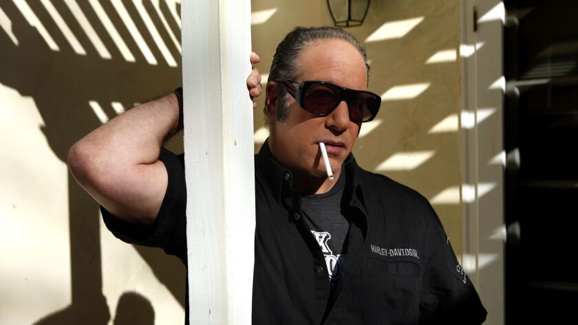 SHERMAN OAKS, CA - NOVEMBER 26, 2014 -- Comedian and actor Andrew Dice Clay at his home in Sherman O