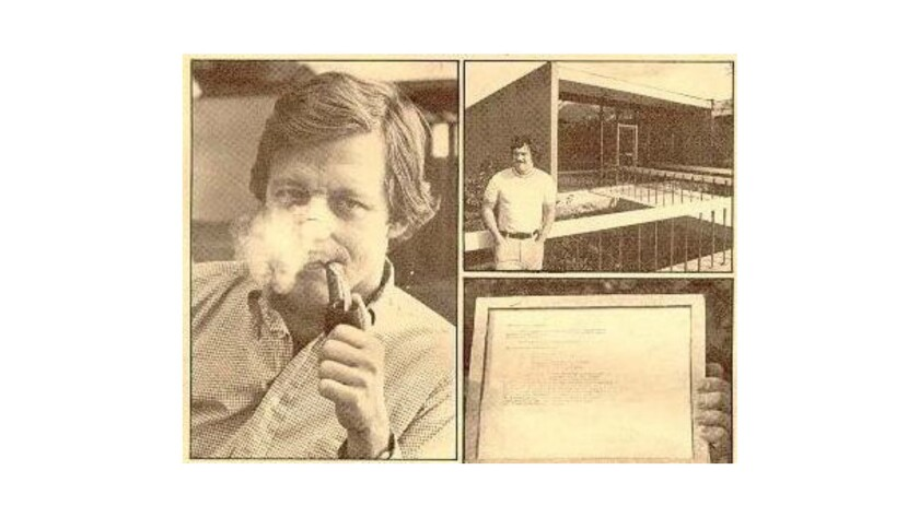 An iconic photo of Bob Taylor obscured by pipe smoke, left, appeared in this 1972 photo spread by An