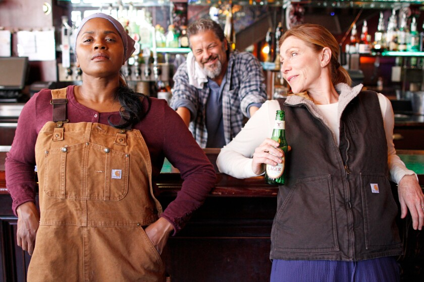 """Monique Gaffney, Jeffrey Jones and Judy Bauerlein (from left) are part of the cast of San Diego Rep's """"Sweat."""""""