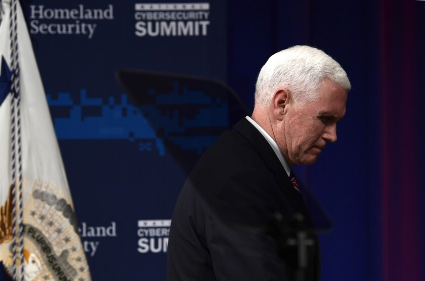 Vice President Pence said in 2001 that Presidents caught committing crimes shouldn't be Presidents any more.
