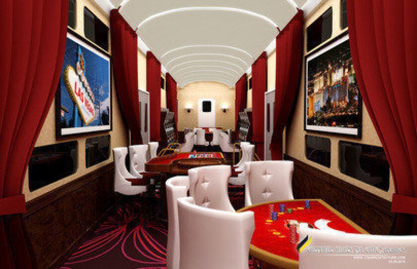Is the adults-only party train from O.C. to Vegas on a fast track?