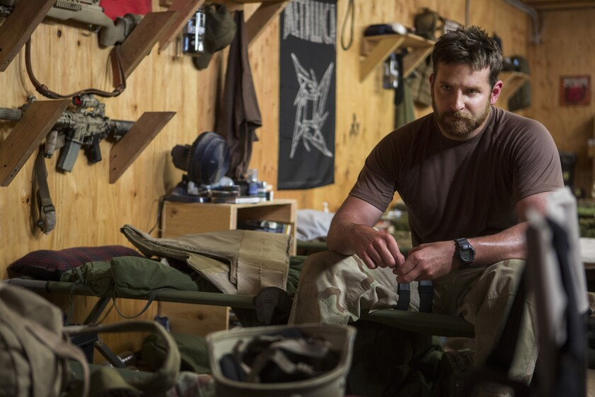 """Bradley Cooper stars as Chris Kyle in """"American Sniper,"""" which raced past industry expectations at the box office and is on track to pass the $100-million mark on Monday."""