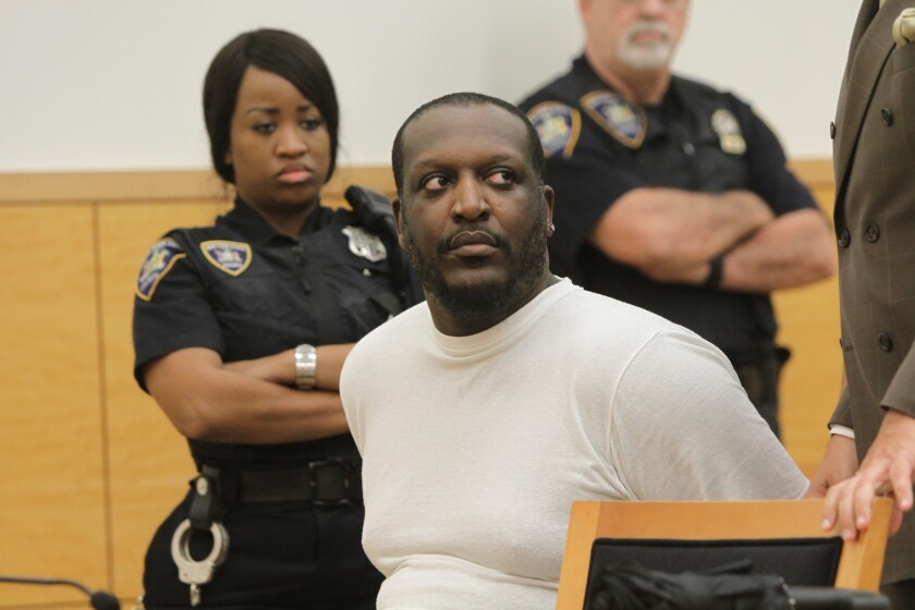 Alwasi Tyson, 37, the jilted ex-husband who stabbed a woman to death for dating his ex-wife, at State Supreme Court in Brooklyn for his sentencing on Sept. 25, 2018.