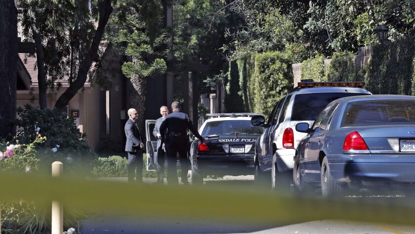 Authorities have identified twin brothers who were found dead in Glendale on Wednesday as Carl Ora and David Cirilo Cervantes, both 60, in what is being investigated by police as a murder-suicide.