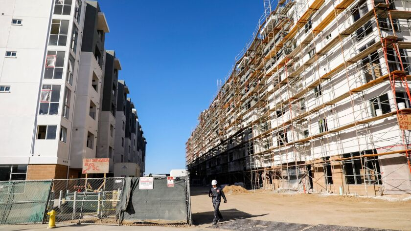 Residential complexes under development at the Sea Breeze project on Friday.