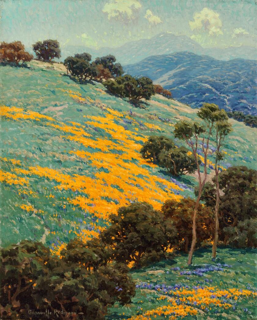 "Granville Redmond, ""California Poppies,"" no date, oil on canvas"
