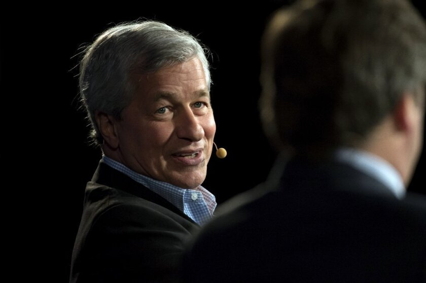 Jamie Dimon, head of JPMorgan Chase, at a recent charity event.