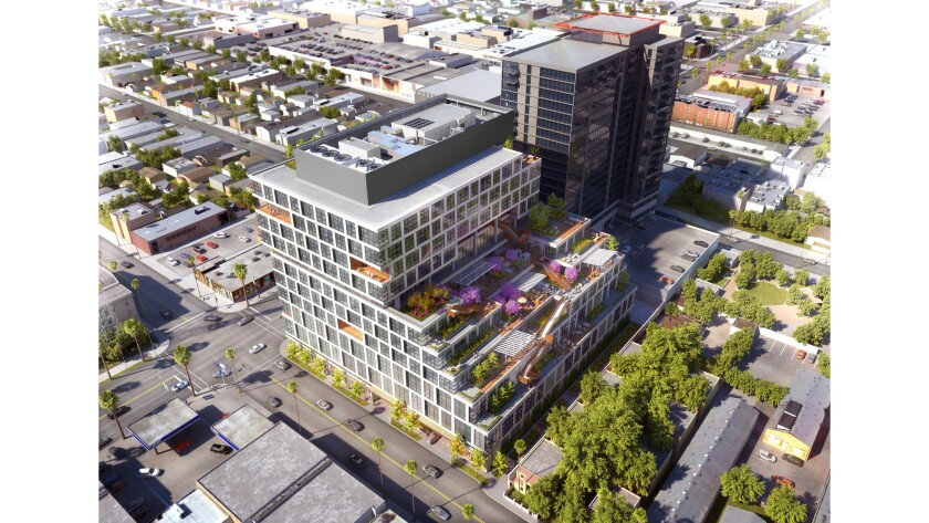 The Los Angeles City Council voted last year to approve a 15-story office complex in Hollywood. Under a legal settlement, the developer will lower the height to 13 stories and reduce the project's square footage.