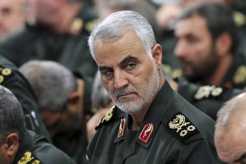 Gen. Qassem Suleimani, leader of Iran's elite Quds Force, at a meeting in Tehran in 2018.