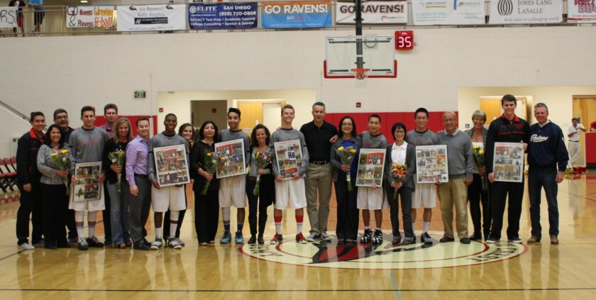 Canyon Crest Academy's seniors were honored on Feb. 18 at the game against Mt. Carmel.