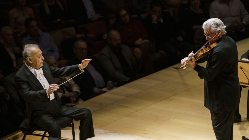LOS ANGELES, CALIF. -- THURSDAY, JANUARY 3, 2019: Zubin Mehta conducts the LA Phil with Pinchas Zuke