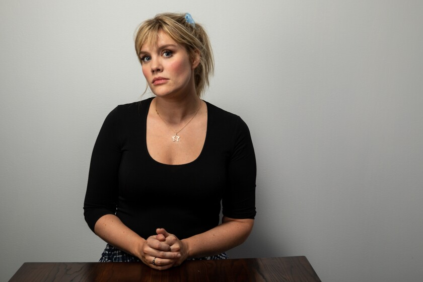 "PARK CITY, UTAH - JANUARY 25: Writer/director Emerald Fennell of ""Promising Young Woman,"" photographed in the L.A. Times Studio at the Sundance Film Festival on Saturday, Jan. 25, 2020 in Park City, Utah."