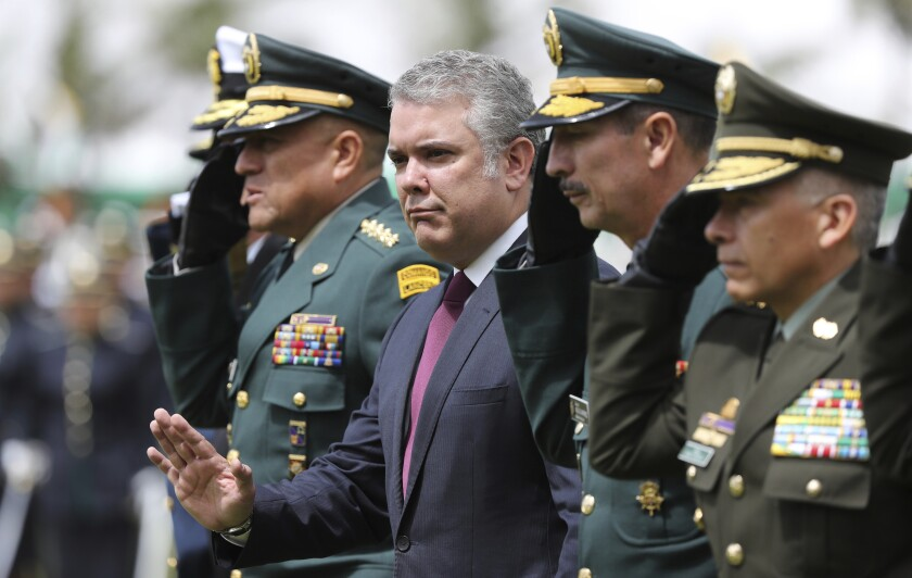 Colombia President Ivan Duque