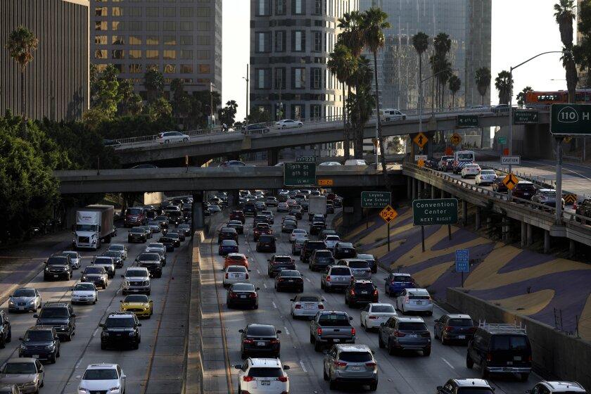 Congested L.A. freeway