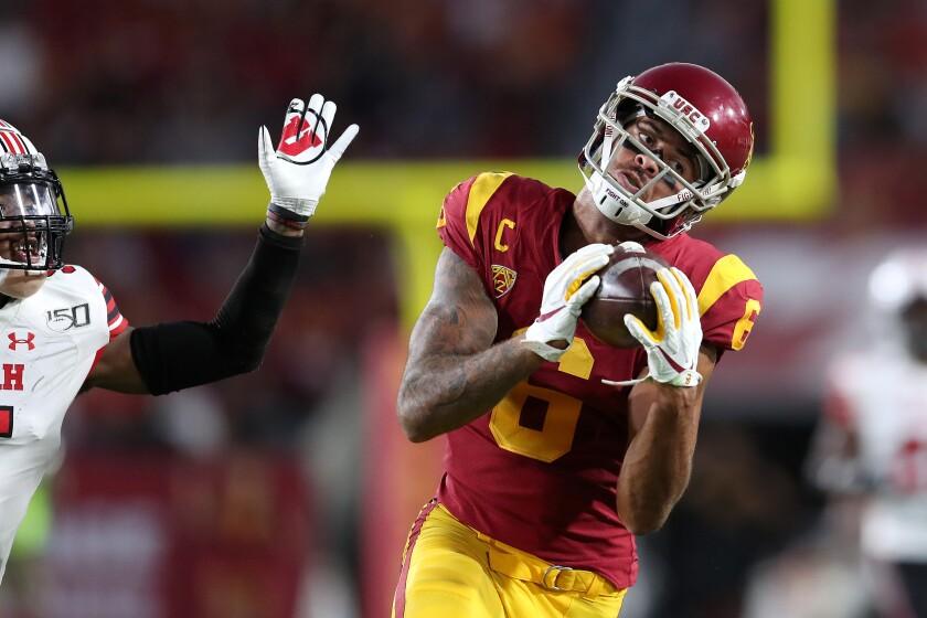USC wide receiver Michael Pittman Jr. makes a catch against Utah.