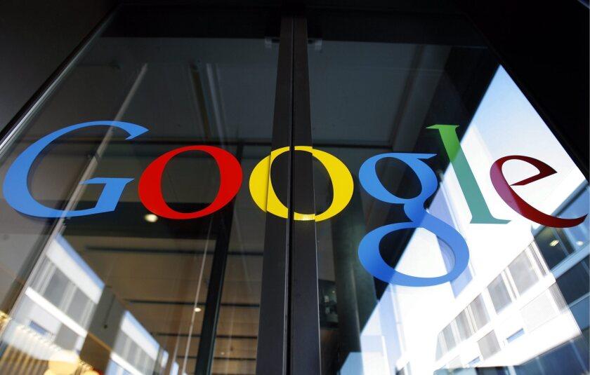 The front door of the Google engineering center in Zurich, Switzerland.