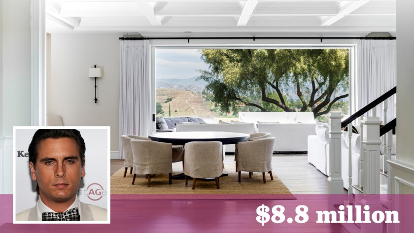 """""""Keeping Up With the Kardashians"""" presonality Scott Disick is asking $8.8 million for the Hidden Hills home he bought roughly six months ago."""