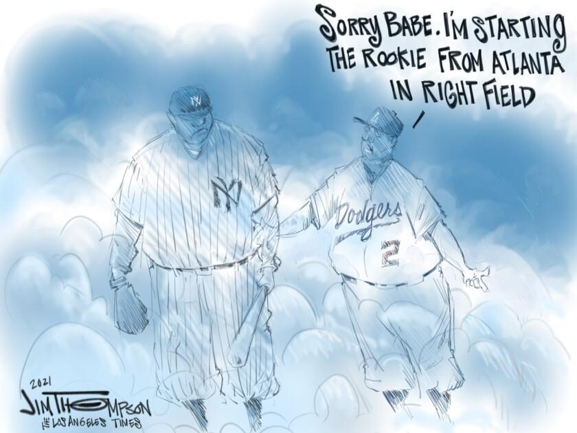Hank Aaron cartoon.