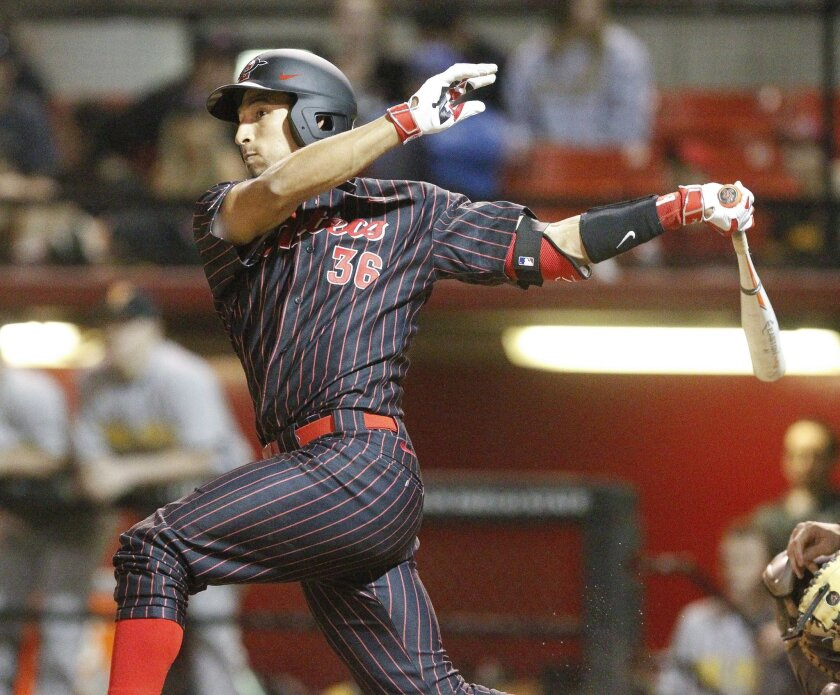 SDSU catcher Seby Zavala got the Aztecs going against Air Force with a solo home run in the second inning.