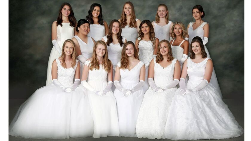 The 2018 Les Fleurettes debutantes will be presented Saturday night during the annual Bal Blanc de N