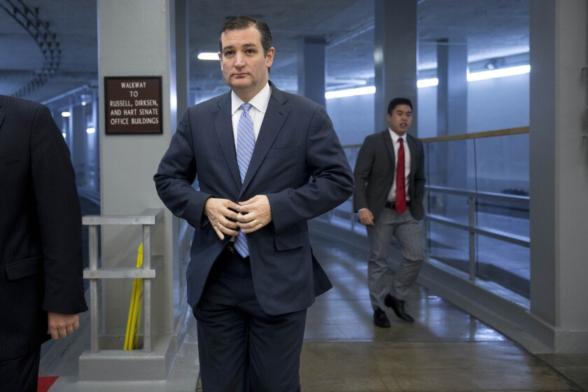 Sen. Ted Cruz (R-Texas) angered colleagues Saturday by trying to use the $1.1-trillion spending bill to make changes to President Obama's immigration action.