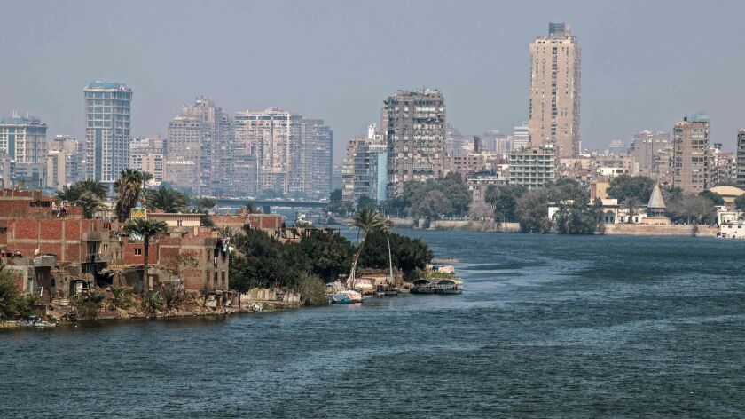 The Nile River in Cairo.