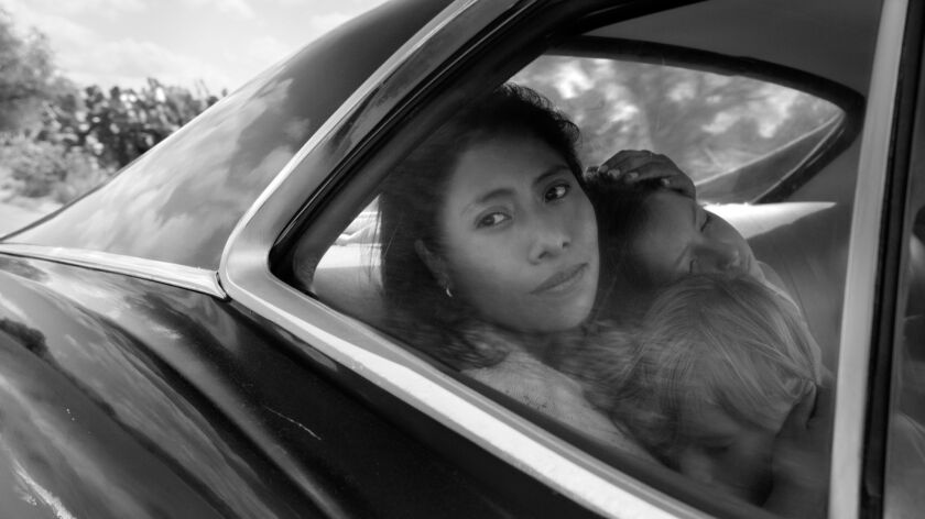 "Netflix scores first best-picture Oscar nomination for ""Roma."""