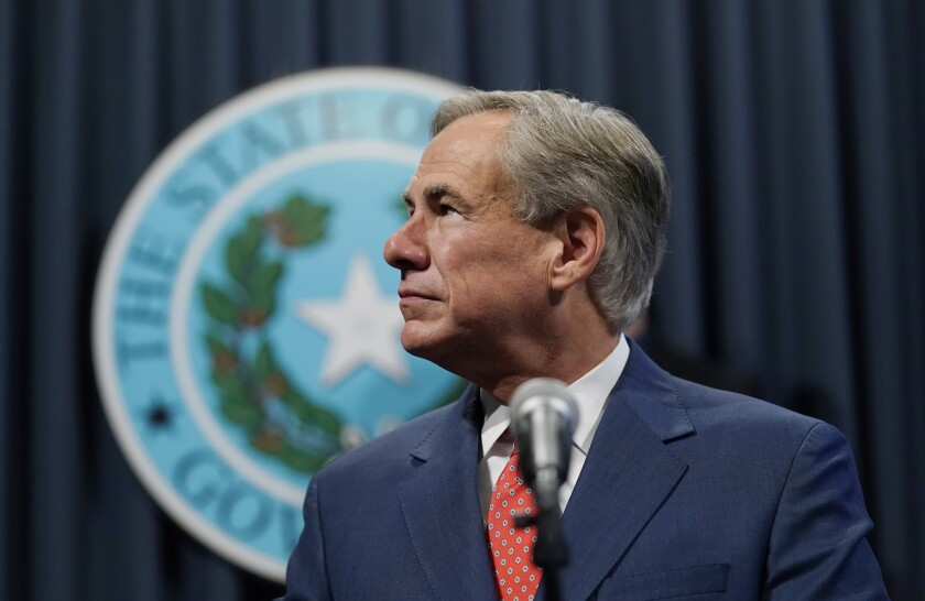 Texas Gov. Greg Abbott says he wants to finish former President Trump's wall along the border between Texas and Mexico.
