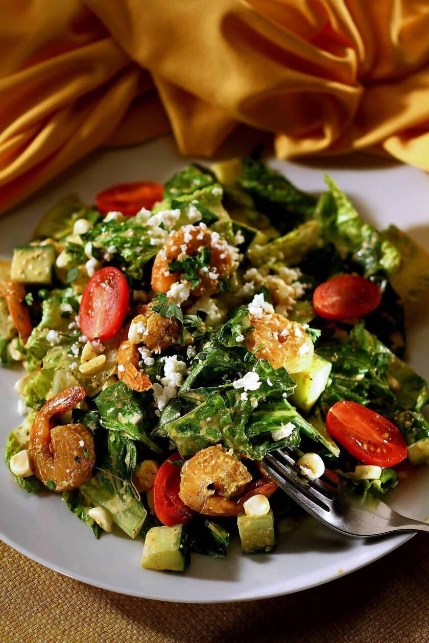 The chopped salad made at Chaya Downtown. Recipe