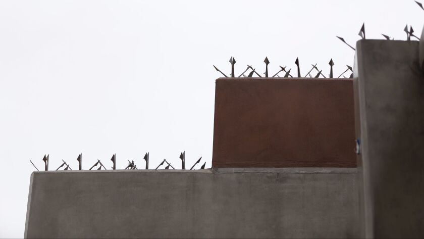 Metal spikes surround the entire complex.