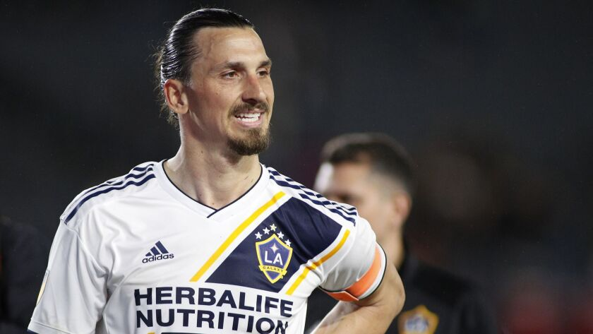 Zlatan Ibrahimovic will miss a second straight game Saturday night when the Galaxy meet unbeaten Minnesota United at Dignity Health Sports Park.