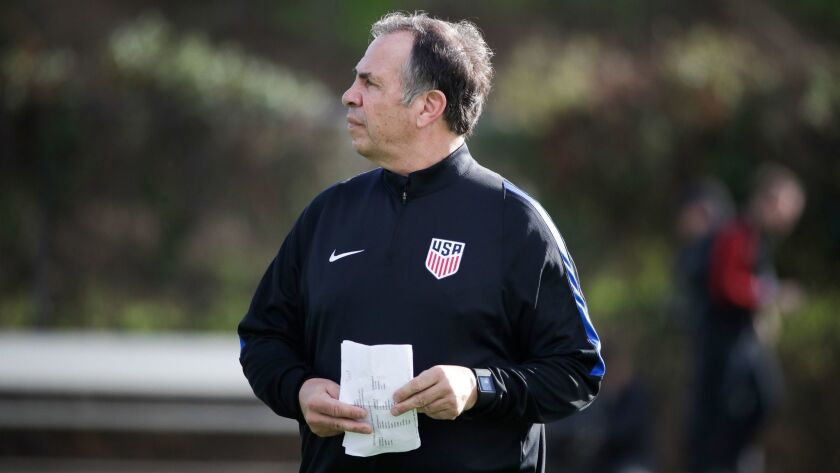 U.S. men's national soccer coach Bruce Arena.