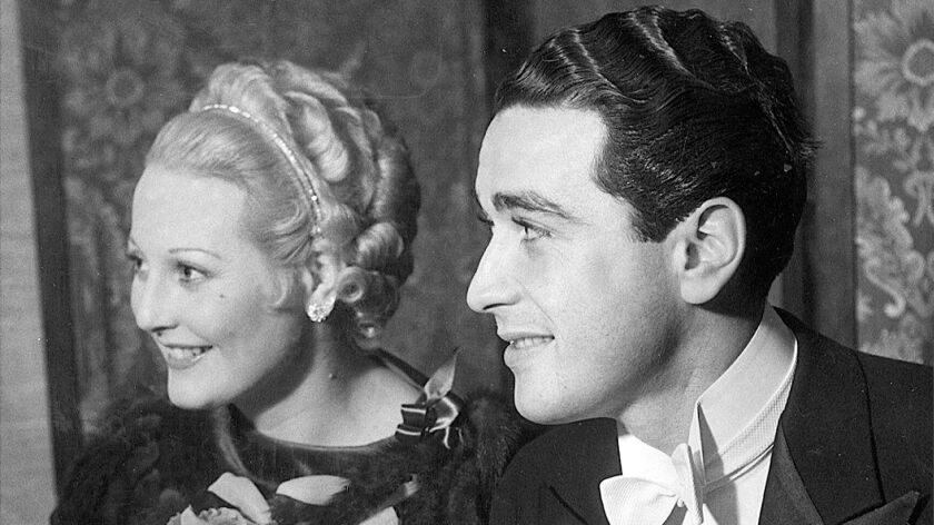 Thelma Todd with Pat DiCicco in 1934.