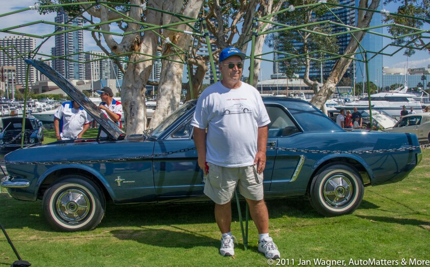 Bob Fria at a Mustang Club of San Diego car show in 2011.