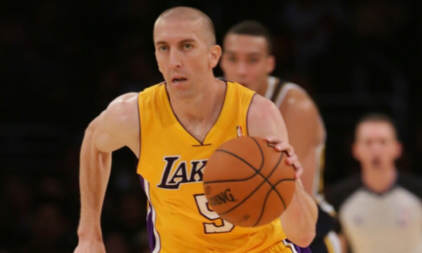 The deal sending Steve Blake to the Golden State Warriors was the Lakers' first trade since acquiring Dwight Howard in 2012.
