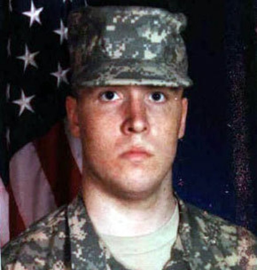 Spc. Jacob Barton was one of five U.S. service members killed at Camp Liberty in Iraq in 2009.