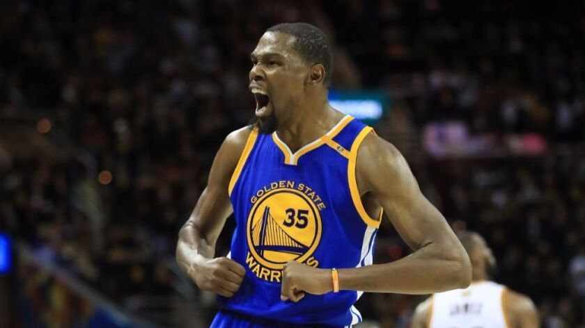 Thunder forward Kevin Durant is averaging 27.2 points with 8.3 rebounds per game in the playoffs.