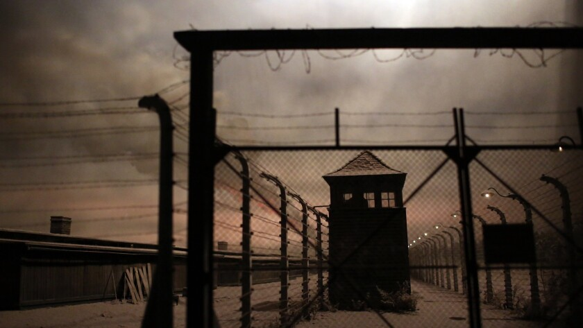 LOS ANGELES, CA-MAY 7, 2019: An Auschwitz-Birkenau replica is pictured at the Museum of Tolerance on