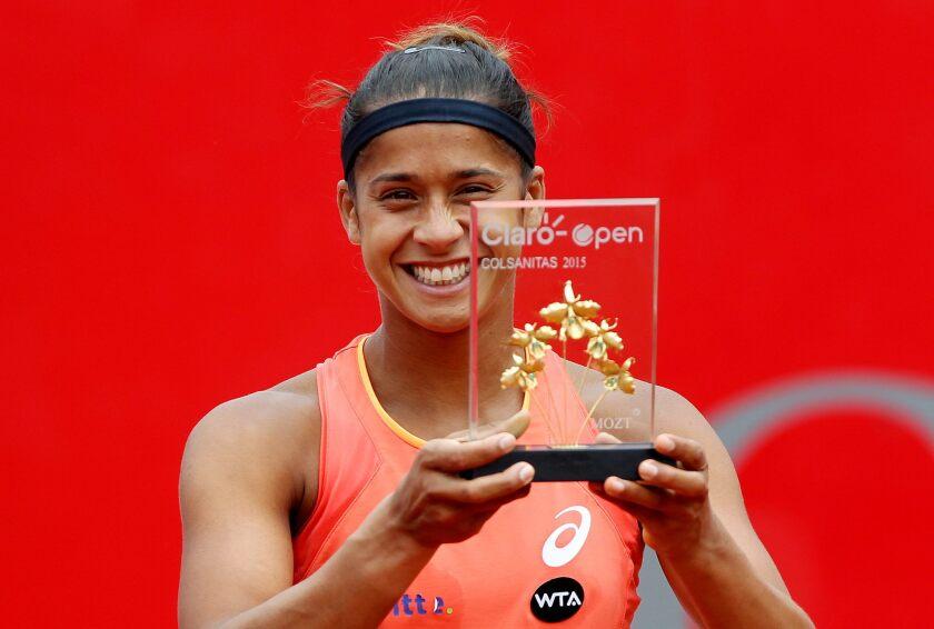 Teliana Pereira se llevó el trofeo WTA en Colombia.