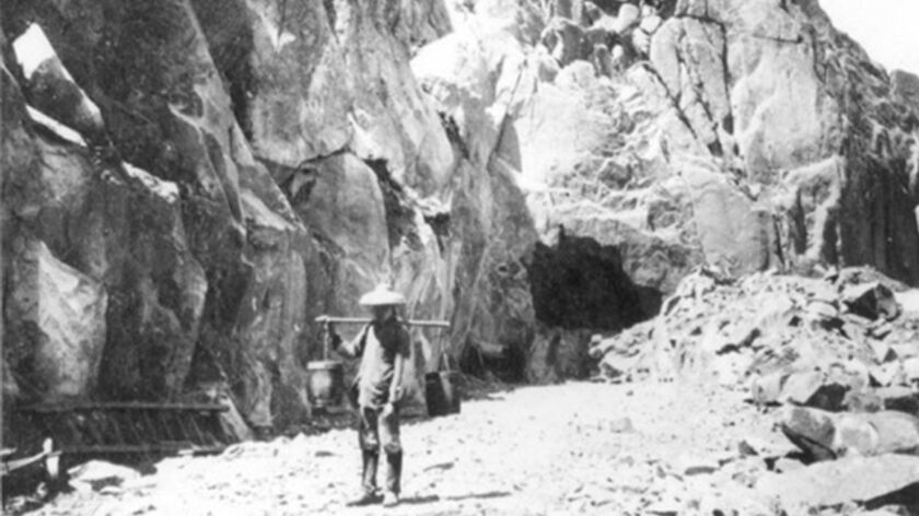 Chinese laborers, who blasted tunnels under the Sierra Nevada mountain range, were initially shunned by the Central Pacific Railroad until it became clear that the project couldn't go on without them.