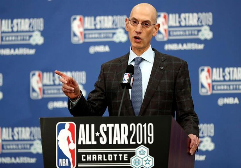 El comisionado de la NBA, Adam Silver. EFE