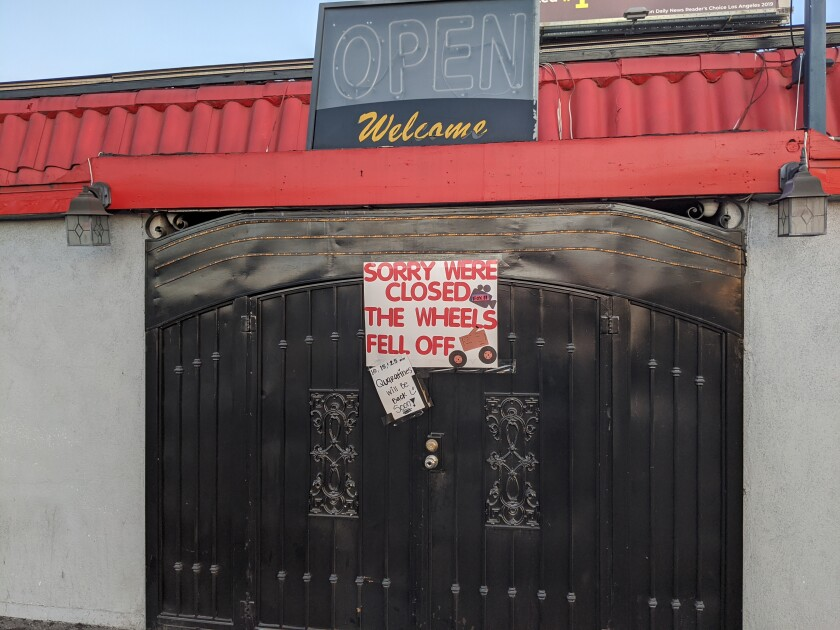 Bliss Showgirls strip club shuts down.