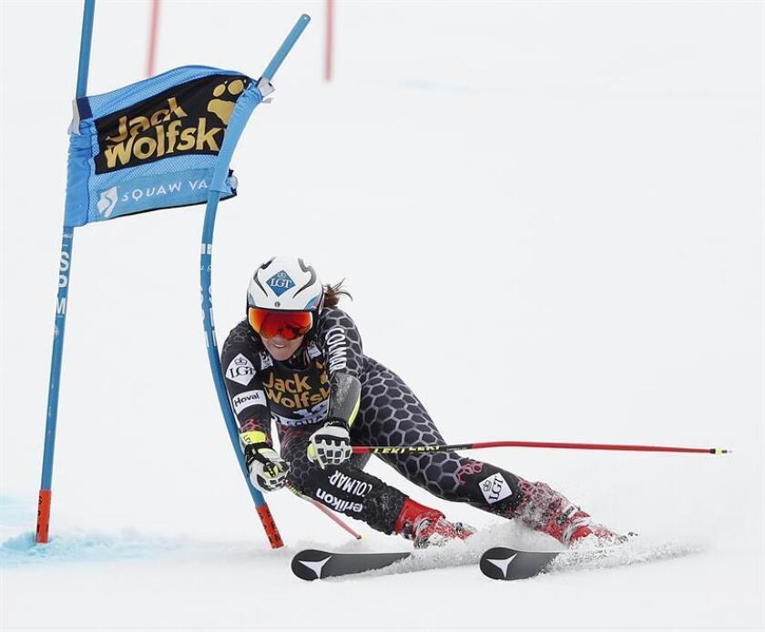 Tina Weirather, esquiadora liechtensteiniana. EFE/Archivo