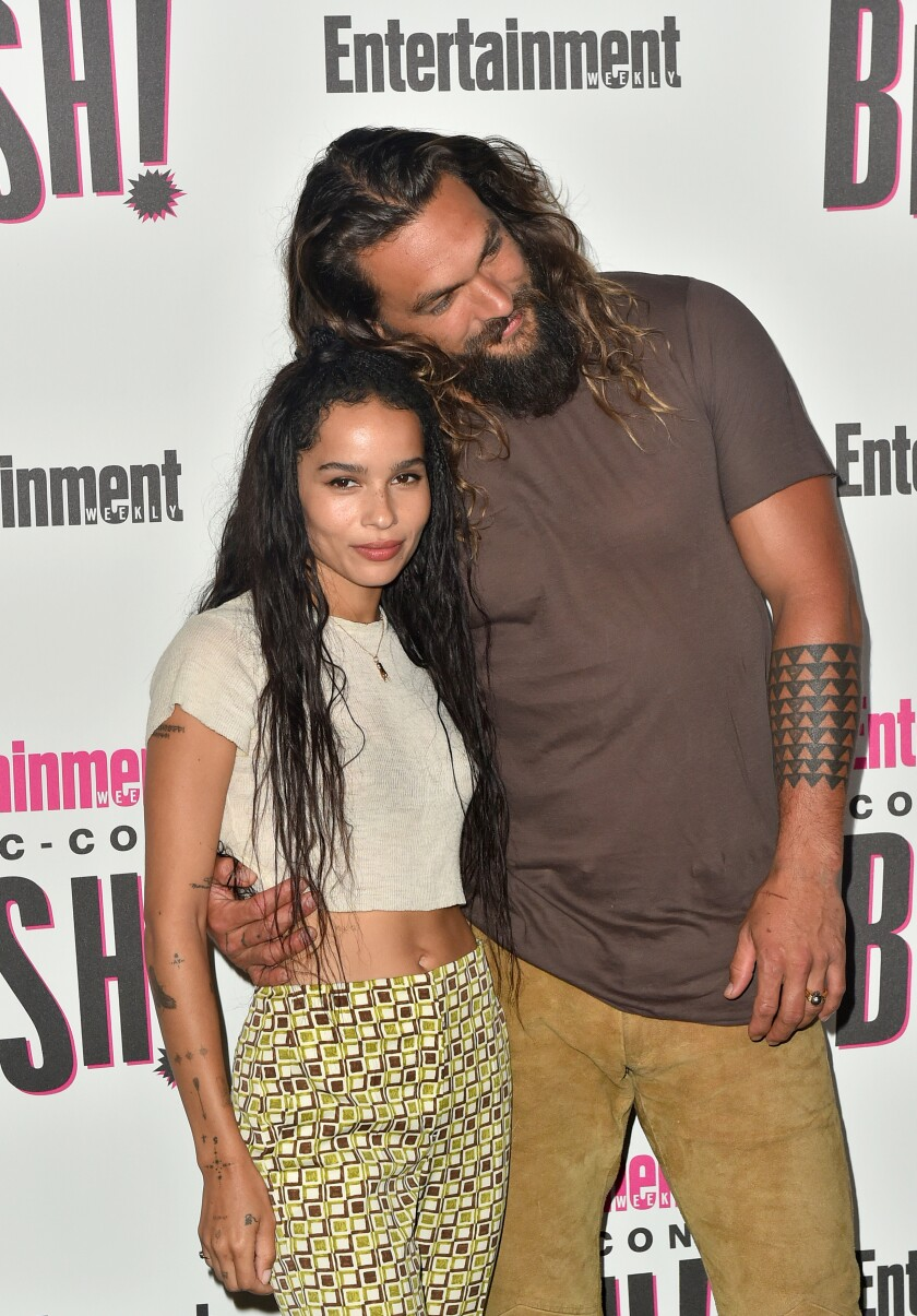 Zoë Kravitz is 'Batman's' new Catwoman, and Aquaman is 'stoked'